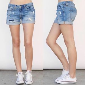 Blank NYC distressed Tomboy Shorts